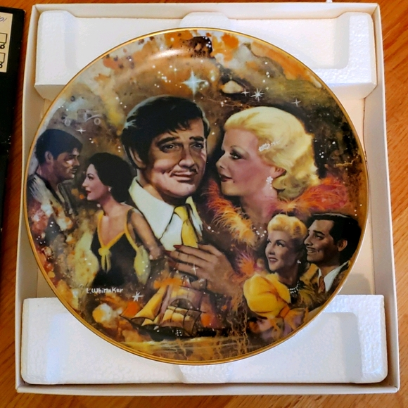 The king and his ladies collectable plate